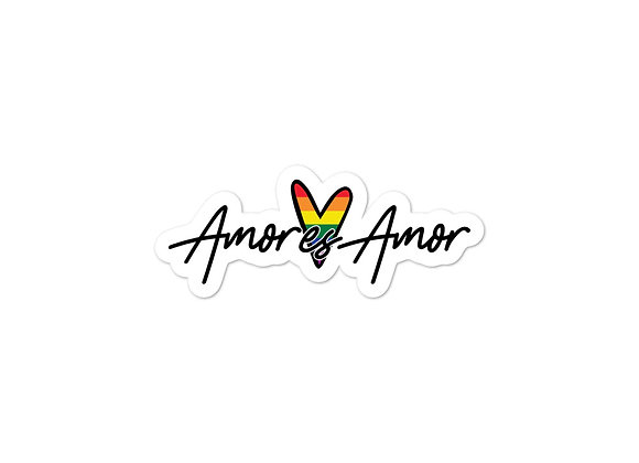 Pride Amor es Amor - Bubble-Free Stickers