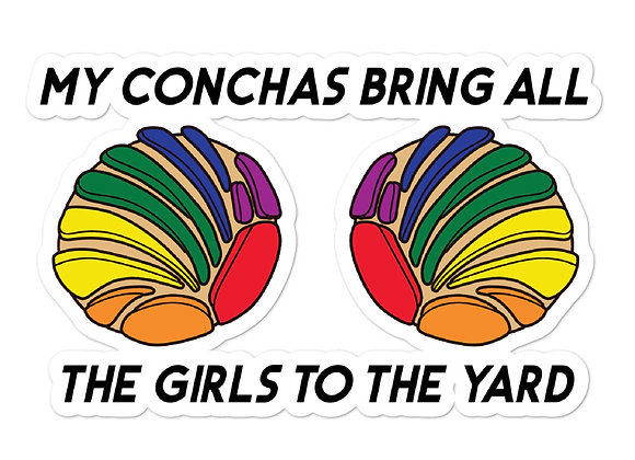 Pride Conchas Bubble-Free Stickers
