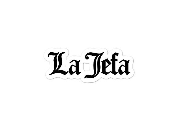 La Jefa Bubble-Free Stickers