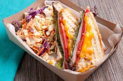 Sandwich and slaw