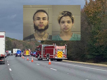 Indiana fugitives in stolen vehicle arrested after 100 mph pursuit on I-75 in Whitfield County