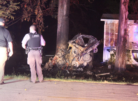 High-speed pursuit ends in fiery, fatal crash in Walker County Sunday morning