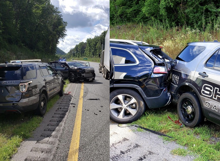 Multiple Dade County patrol vehicles struck while assisting motorist on I-24 Tuesday afternoon