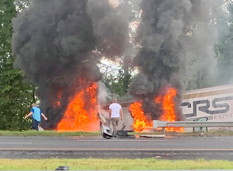 Tractor-trailer driver killed in fiery crash on I-75 Friday in Bartow County