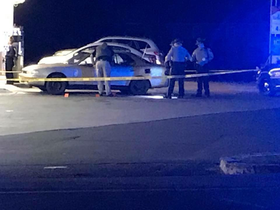 Whitfield County Sherriff's Department investigating the scene.