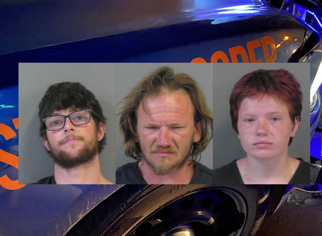 Trio from South Carolina arrested on felony drug charges after trooper ends pursuit on I-75 with PIT