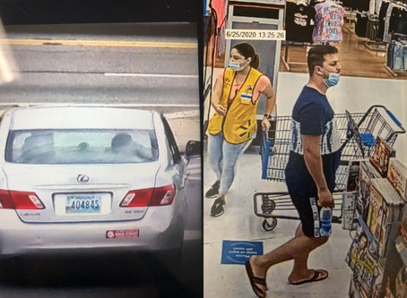 Police need help identifying man who wore mask improperly while scamming area Walmarts out of cash