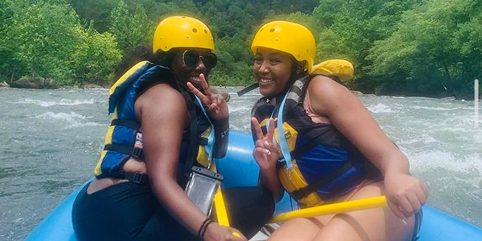 We're White Water Rafting!