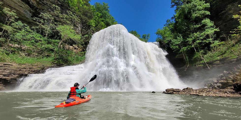 Kayak to the base of Burgess Falls-12:00 PM