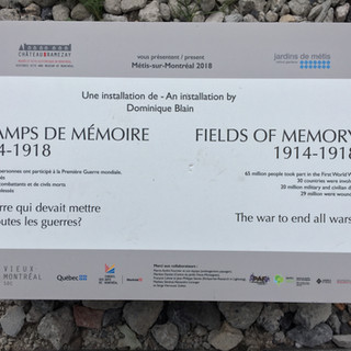 Fields of Memory 1914 - 1918 // Old Montreal