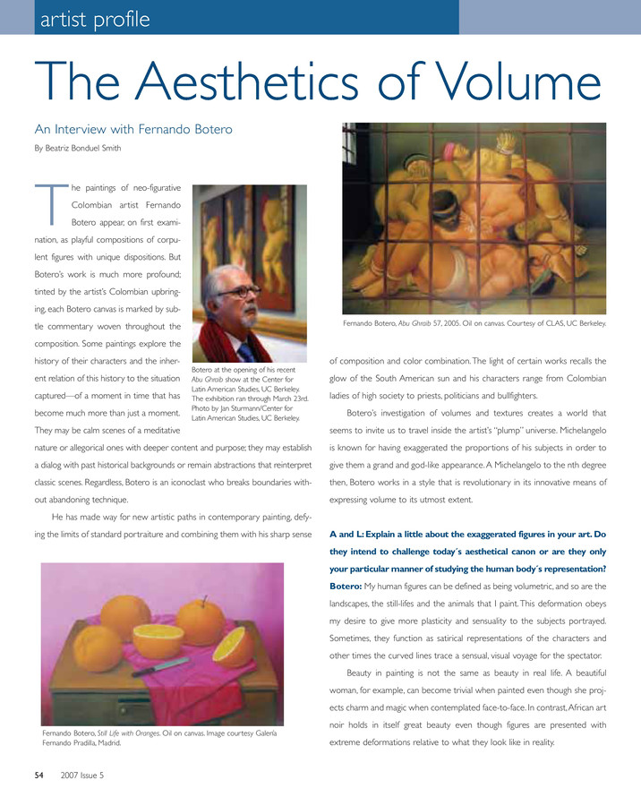 The Aesthetics of Volume | Art and Living Magazine