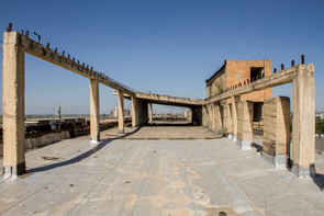 Terrace of abandoned hotel