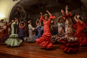 Dancing a Flamenko.  Toledo   Spain 2017
