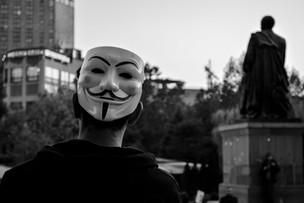March of anonymous. Yerevan   Armenia 2016