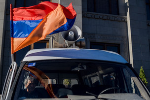 During protests in Yerevan. 2016