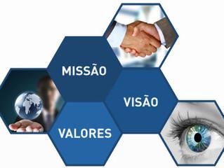 Missão, visão e valores para uso, não apenas para ISO