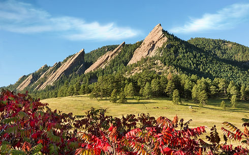 Rocky Mountain Scenic Flatirons with Fal