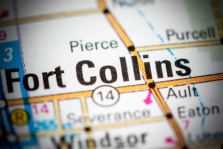 Fort Collins. Colorado. USA on a map..jp