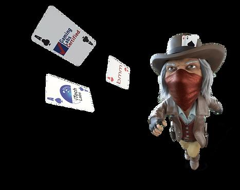 카드 던지는 사람