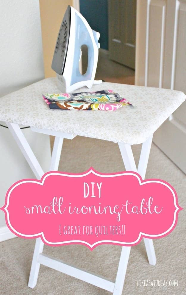 Doubles as an extra workspace when you're not ironing.Learn how to make it here.