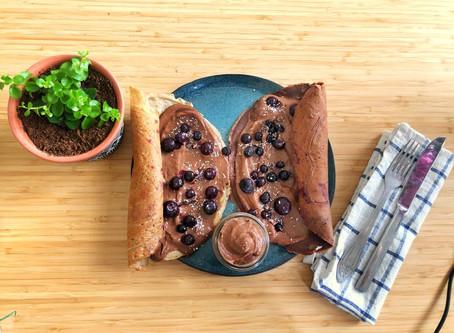 טורטיה במילוי קרם שוקולד