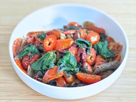 פסטה תרד עגבניות