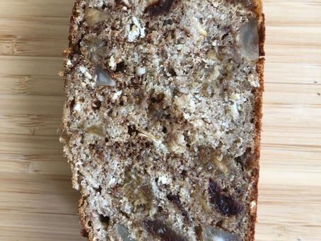 עוגת לחם טבעונית ללא שמרים