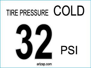 Tire Pressure Decal 32 PSI