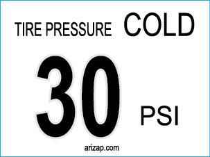 Tire Pressure Sticker 30 PSI