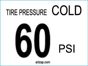 Tire Pressure Sticker 60 PSI