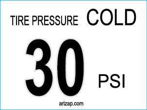 Tire Pressure Decal 30 PSI