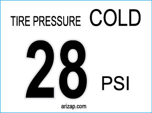 Tire Pressure Decal 28 PSI