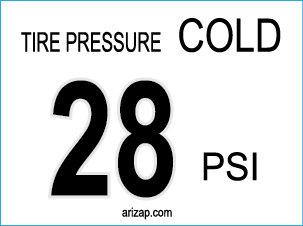Tire Pressure Sticker / Decal 28 PSI Clear Vinyl