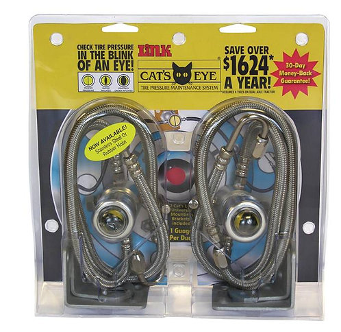 "Cat's Eye 2 Pack 125 PSI, 14"" Stainless Hose"