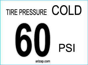 Tire Pressure Decal 60 PSI