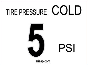 Tire Pressure Decal 5 PSI