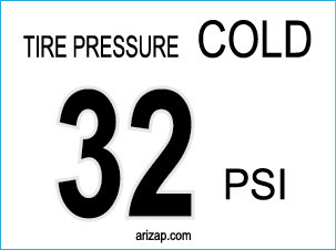 Tire Pressure Decal 32 PSI