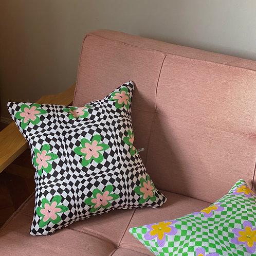 FLORET - Black (cushion cover)