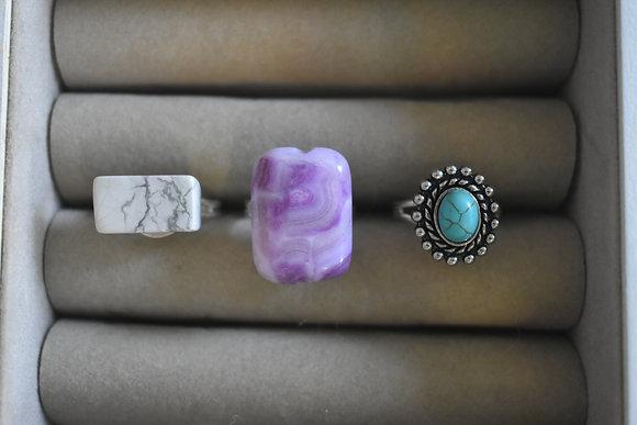 Marble Bead Rings