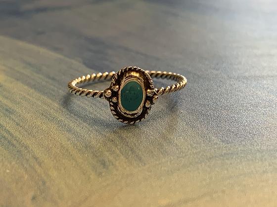 Blue Twist Ring
