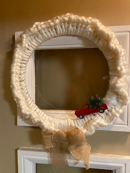 Winter Truck Wreath
