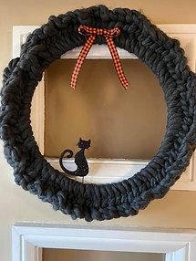 Black Cat Wreath