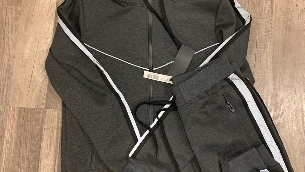 Reflessi tech suit charcoal grey