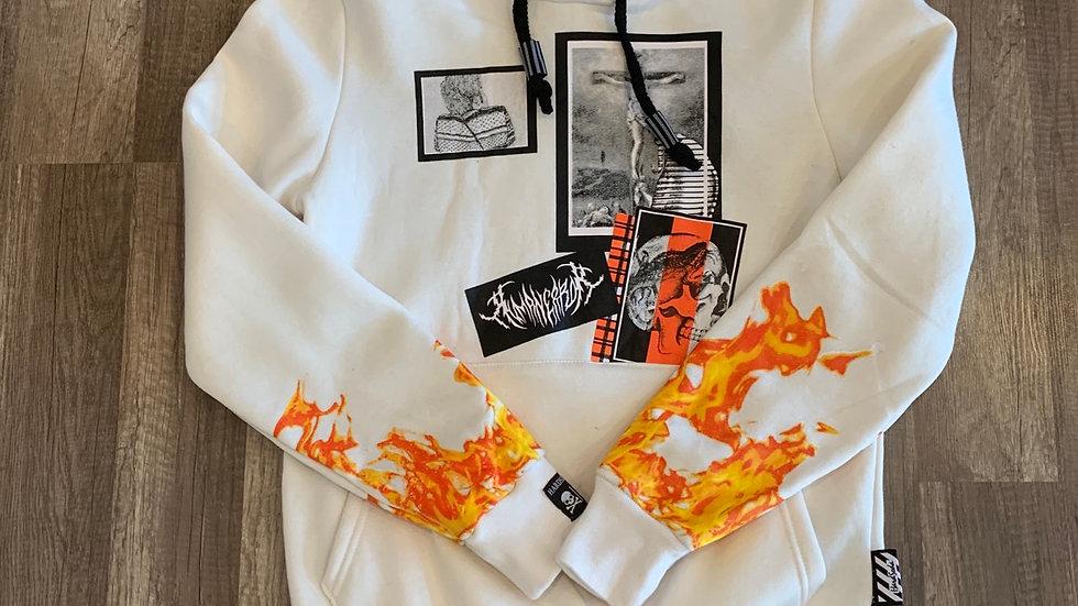 Hardsoda hoodie white
