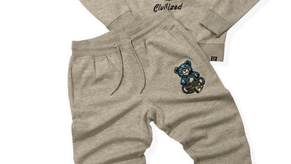 Civilized grey sugar daddy sweatsuit