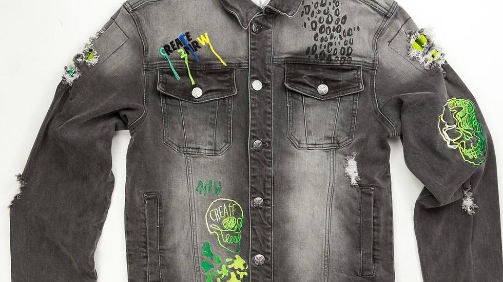Create 2mrw light grey denim jacket