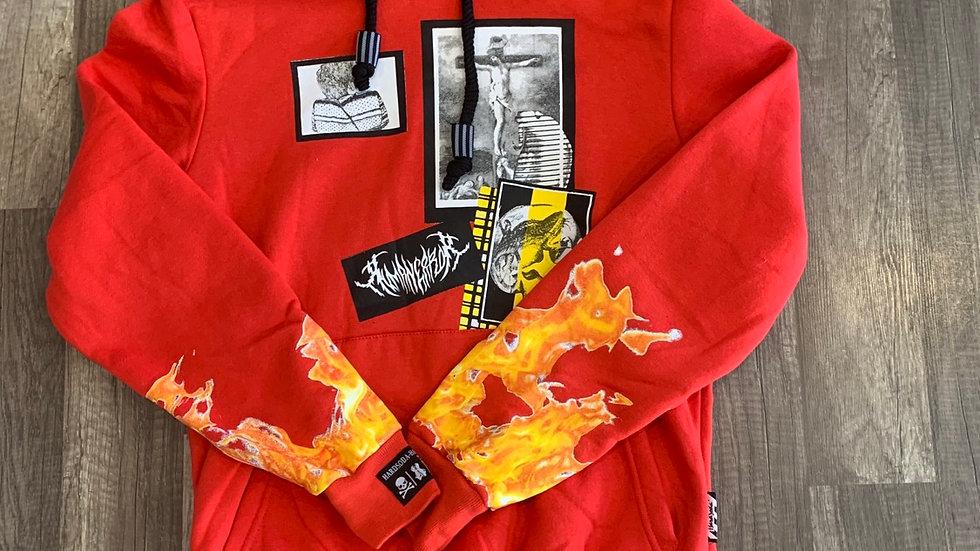 Hardsoda hoodie red