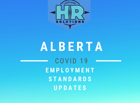 Temporary Updates to Alberta Employment Standards - COVID 19