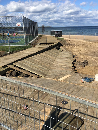 Sports Court and Board Walk