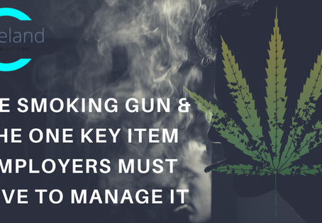 The Smoking Gun & the ONE Key Item Employers Must Have to Manage it